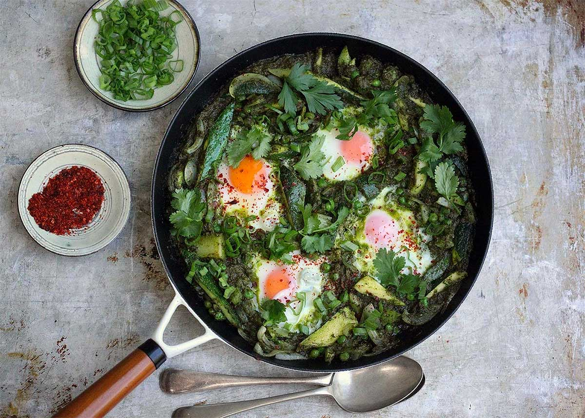 Recipe Breakfast Green Shakshuka